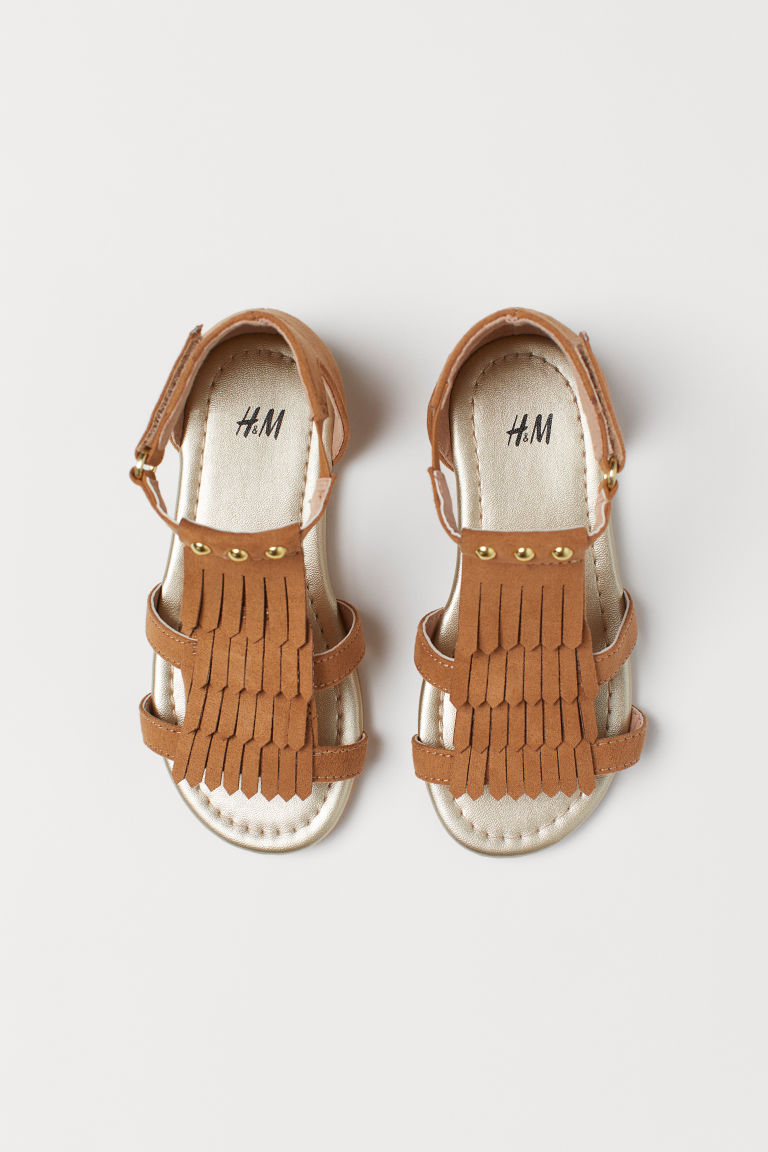 Sandales à franges - Marron clair - ENFANT | H&M BE