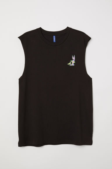 Sleeveless T-shirt - Black/Looney Tunes - Men | H&M