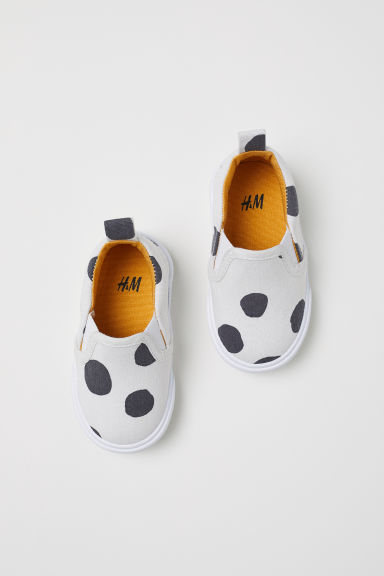 Slip-on trainers - Natural white/Spotted - Kids | H&M