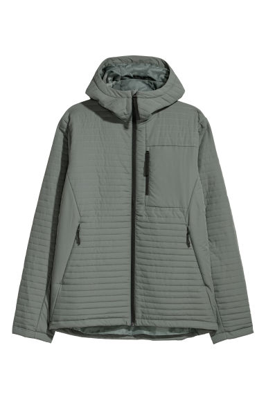 Padded jacket - Light khaki green - Men | H&M CN
