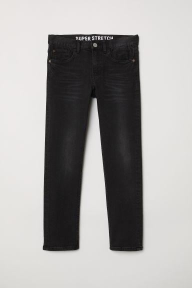 Superstretch Slim Fit Jeans - Black/Washed - Kids | H&M CN