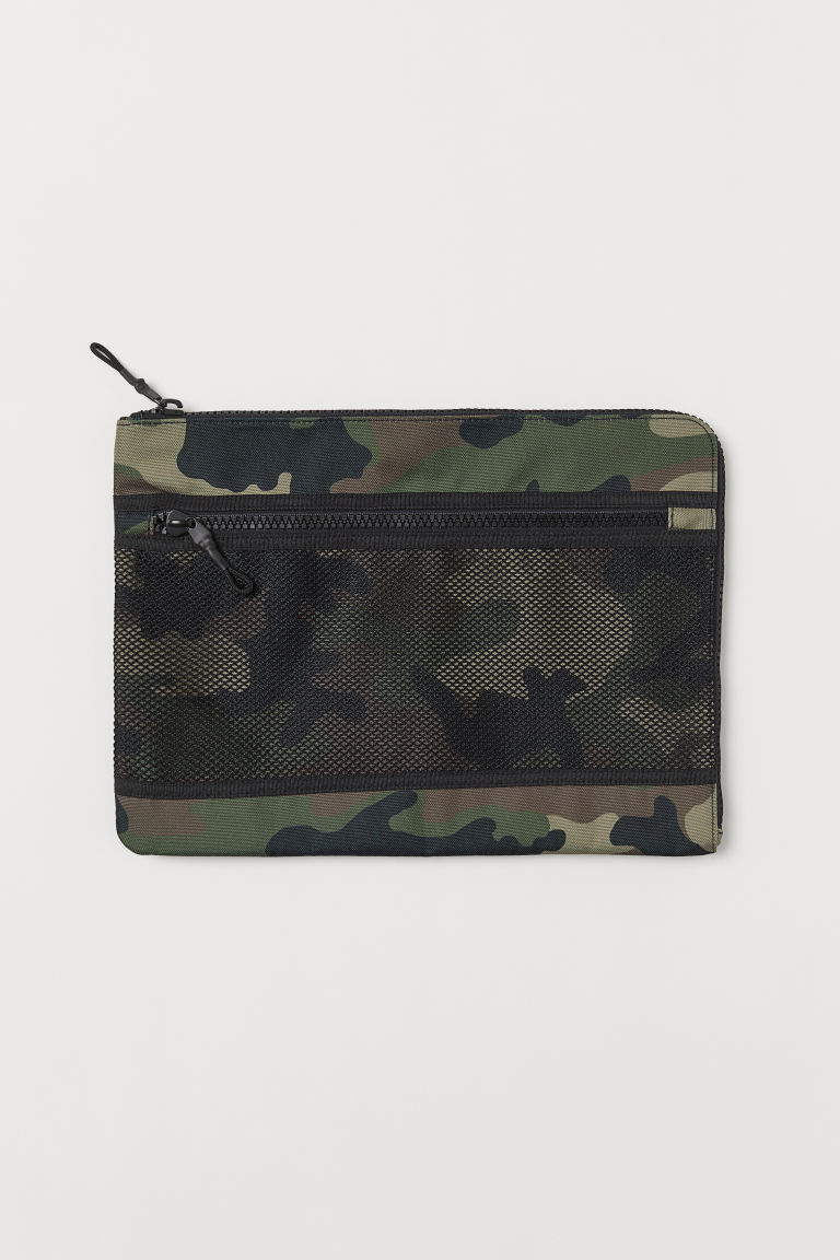 Laptop case - Khaki green/Patterned - Men | H&M