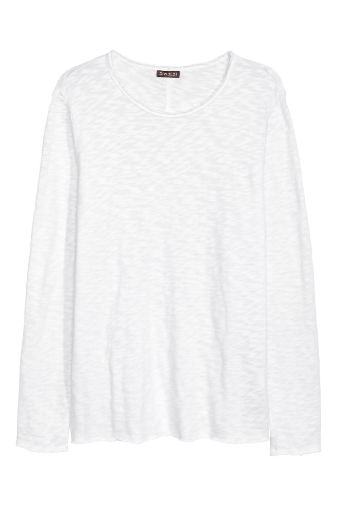28744d0be227 Fine-knit Sweater - White - Men | H&M ...