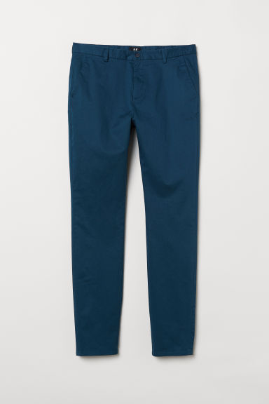 Cotton chinos Slim Fit - Dark turquoise - Men | H&M