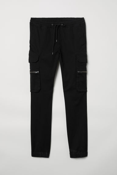 Cargo trousers - Black - Men | H&M CN