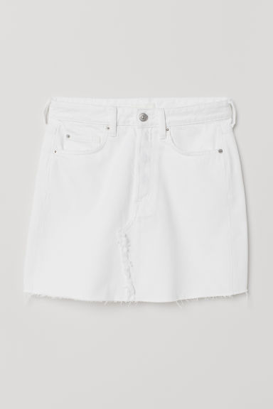 Denim Skirt - White - Ladies | H&M US
