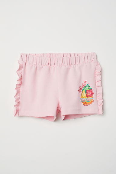 Short met volants - Lichtroze/Shopkins - KINDEREN | H&M BE