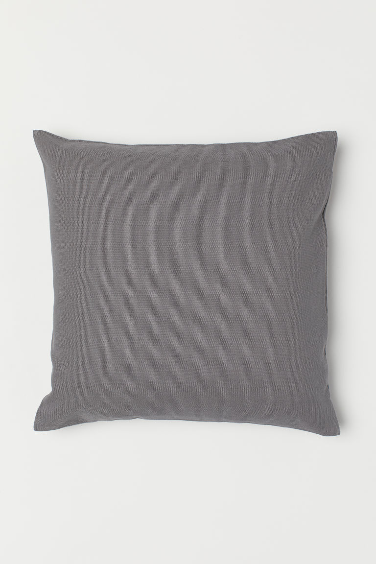Cotton canvas cushion cover - Grey - Home All | H&M CN
