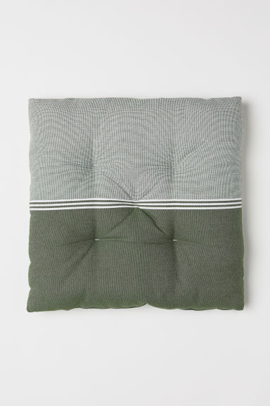 Cotton Seat Cushion - Green/striped - Home All | H&M US