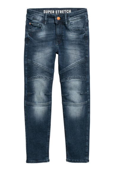 Skinny fit Biker jeans - Blu denim scuro - BAMBINO | H&M IT