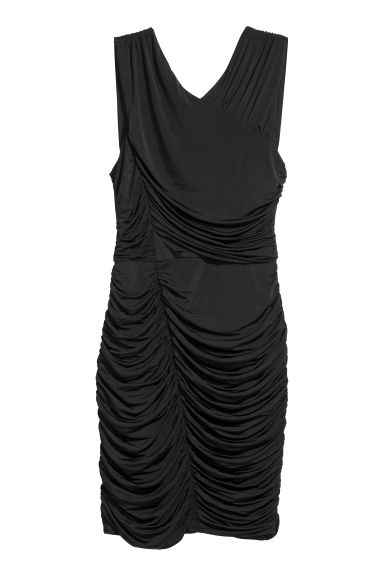 Draped dress - Black - Ladies | H&M CN