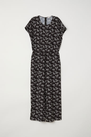 Jumpsuit - Black/Floral - Ladies | H&M CN