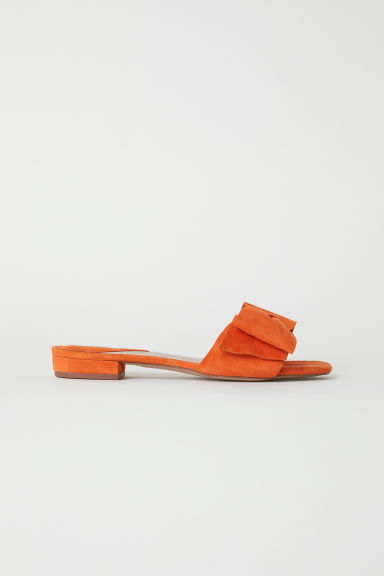 Suede Slides - Orange - Ladies | H&M US
