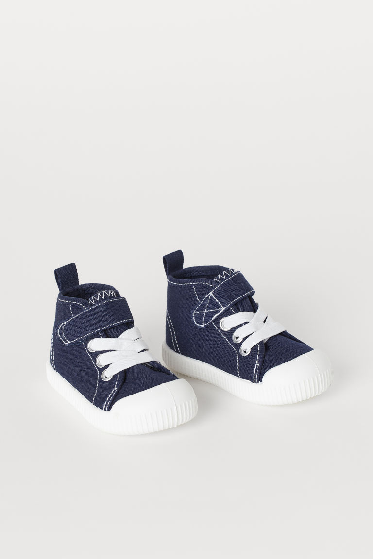 Canvas High Tops - Dark blue - Kids | H&M US