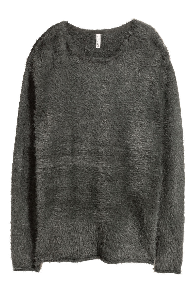 Knitted jumper - Dark grey -  | H&M