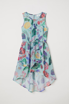 Patterned chiffon dress