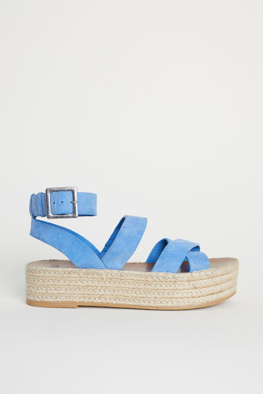 Platform sandals - Blue - Ladies | H&M CN