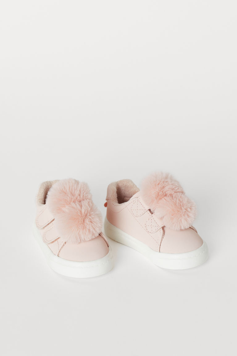 Sneakers med applikation - Puderrosa/Pompoms - BARN | H&M SE