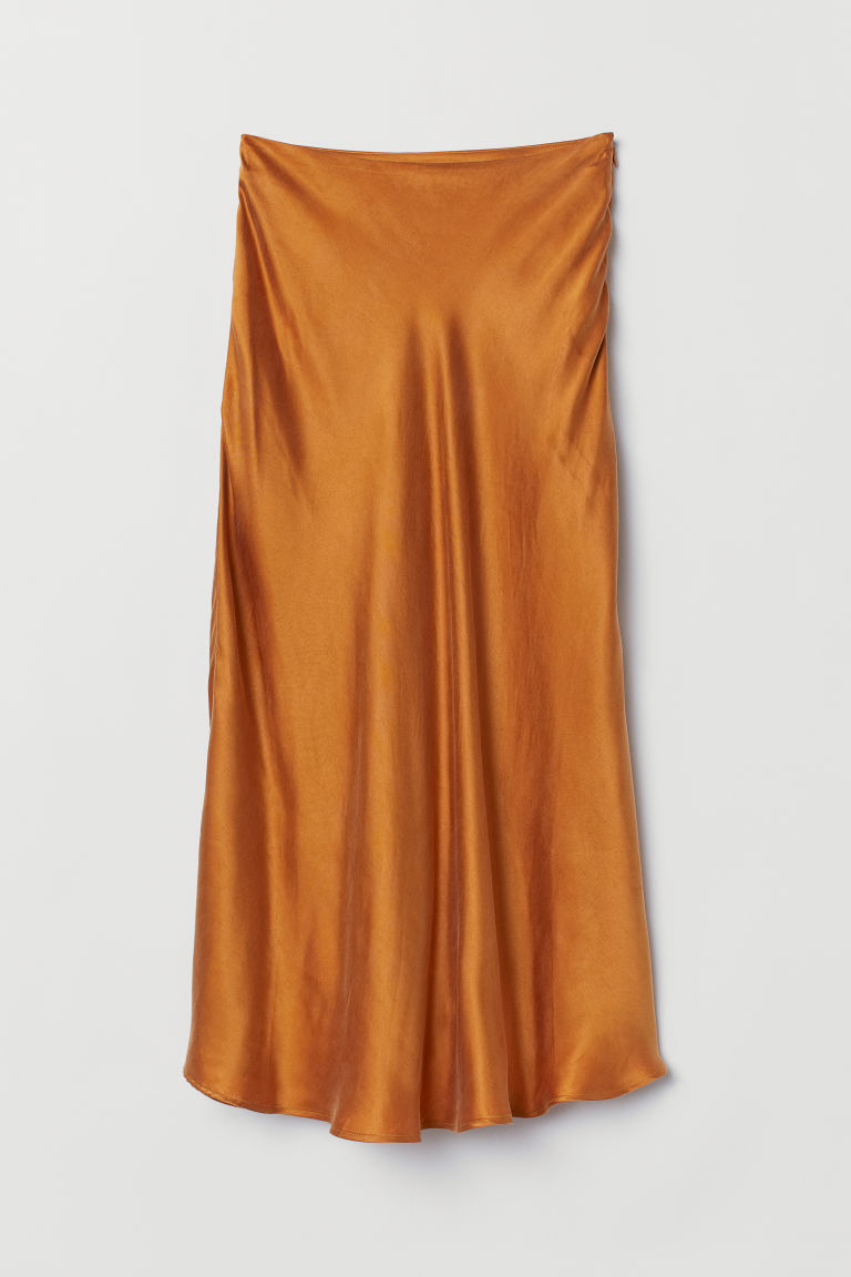 Calf-length skirt - Dark orange - Ladies | H&M GB