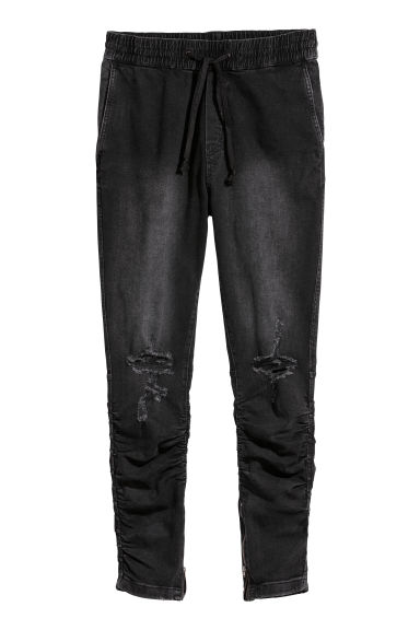 Slim Low Joggers - Black/Washed - Men | H&M