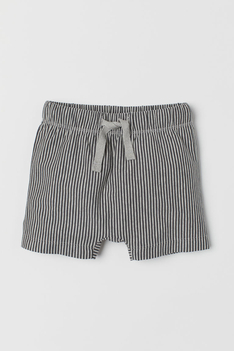 Jersey Shorts - Dark gray/striped - Kids | H&M US