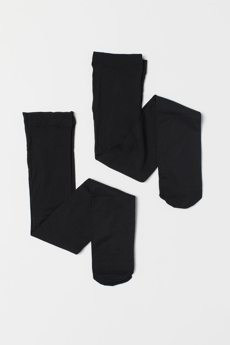 Collants fins, lot de 2 - Noir - ENFANT | H&M FR