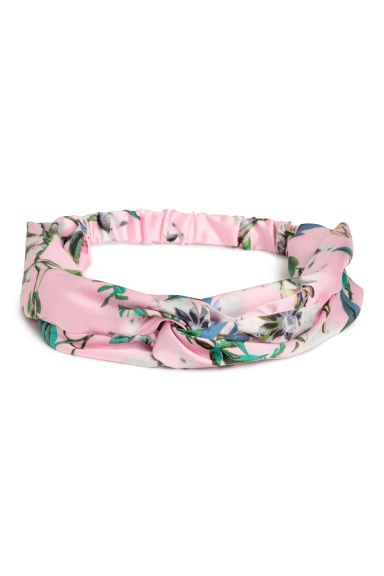 Hairband with a knot-detail - Light pink/Floral - Ladies | H&M CN