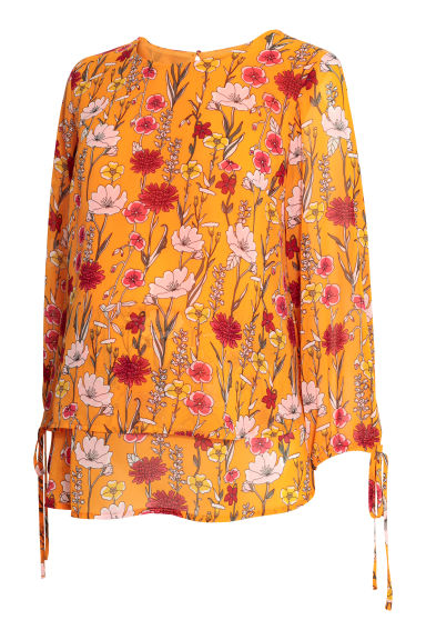 MAMA Nursing blouse - Orange/Floral - Ladies | H&M