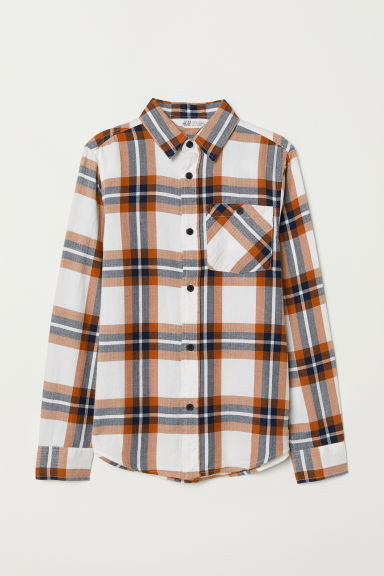 Camicia in flanella a quadri - Marrone/quadri - BAMBINO | H&M IT