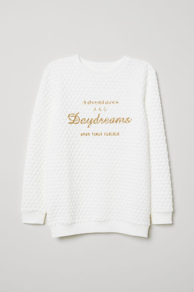 Sweatshirt - White/Daydreams - Kids | H&M