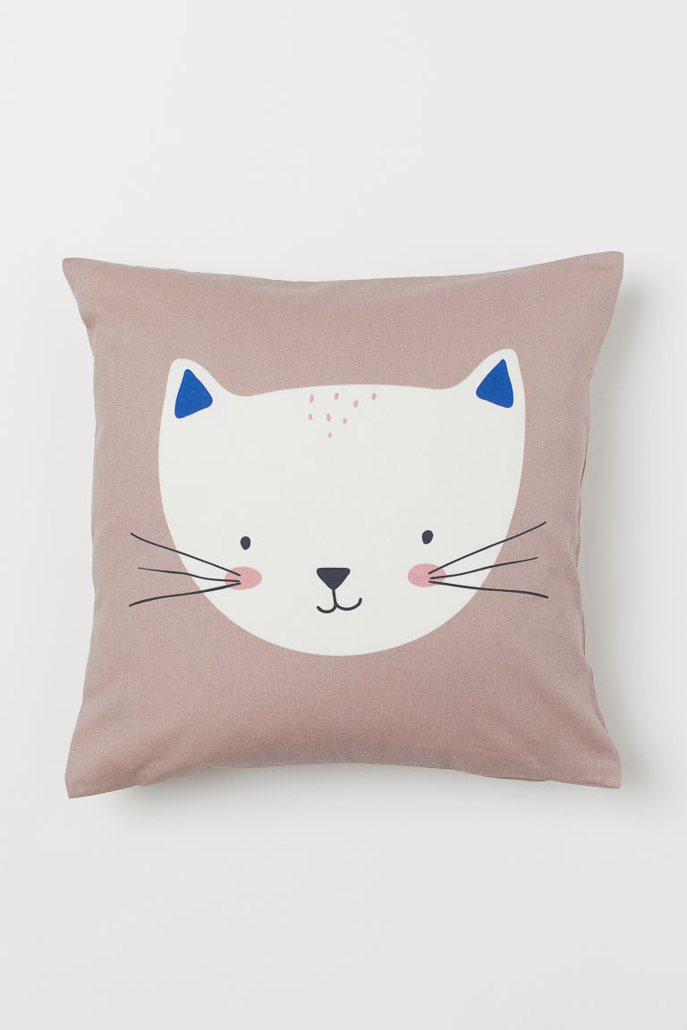 Cotton Twill Cushion Cover - Light pink/cat - Home All | H&M CA