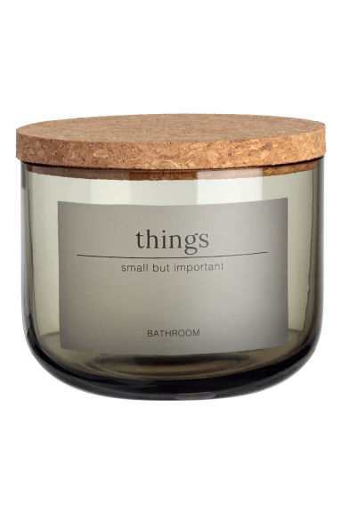 Small Glass Jar - Dusky green - Home All | H&M US