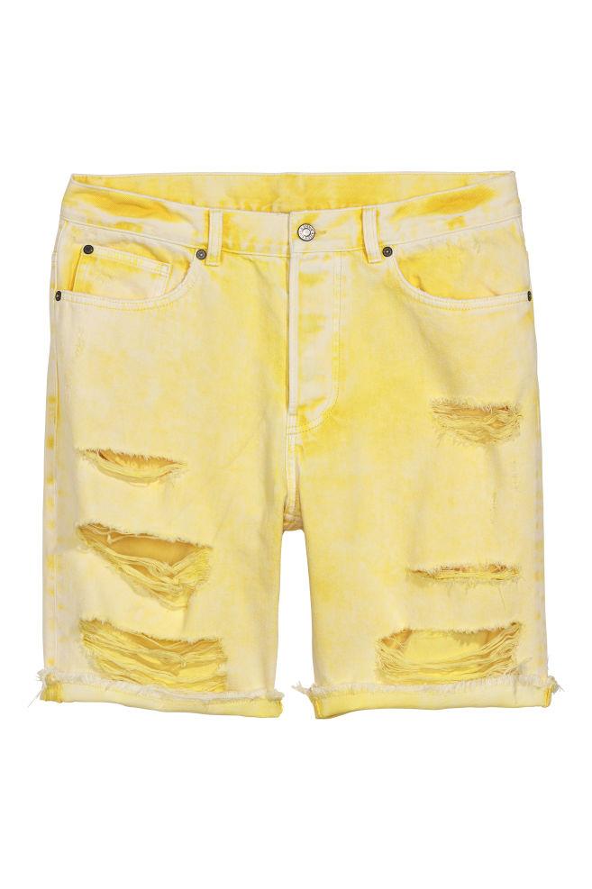 2abcfb9e75 Denim shorts Trashed - Light yellow - Men | H&M ...