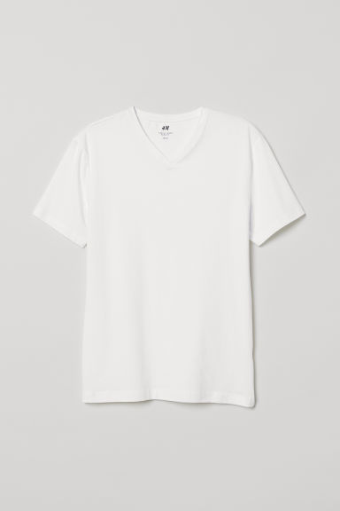 Set van 5 T-shirts - Slim fit - Wit -  | H&M NL