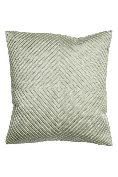 Jacquard-weave cushion cover - Dusky green -  | H&M CN