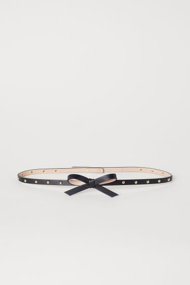 Waist belt with a bow - Black - Ladies | H&M CN