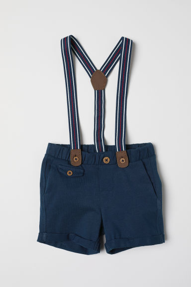 Shorts with braces - Dark blue - Kids | H&M