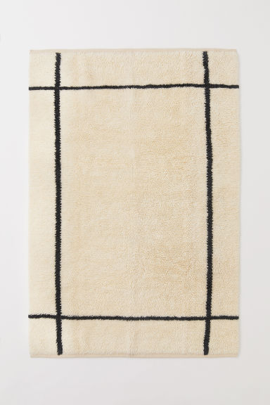 Wool-blend rya rug - Light beige/Grey - Home All | H&M CN