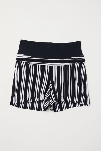 MAMA Shorts fantasia - Nero/bianco righe - DONNA | H&M IT