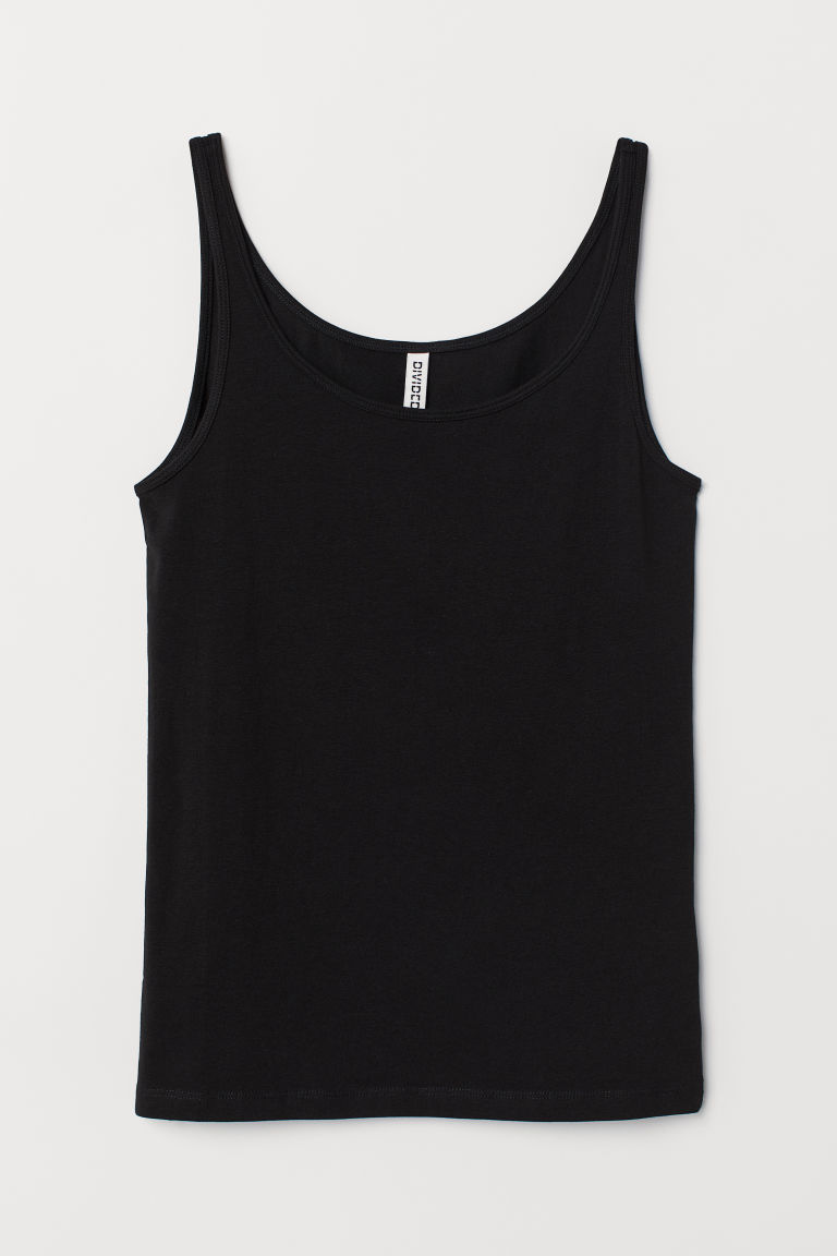 Jersey Tank Top - Black -  | H&M US