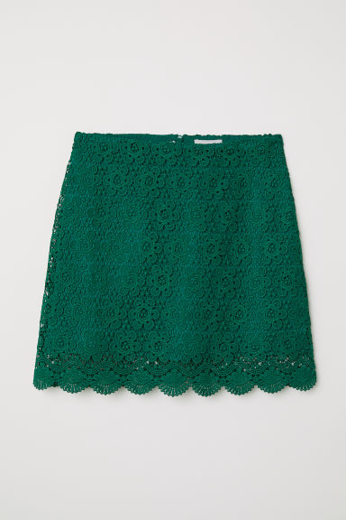 Short lace skirt - Green - Ladies | H&M