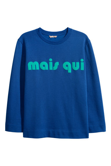 H&M+ Sweat-shirt floqué - Bleu -  | H&M BE