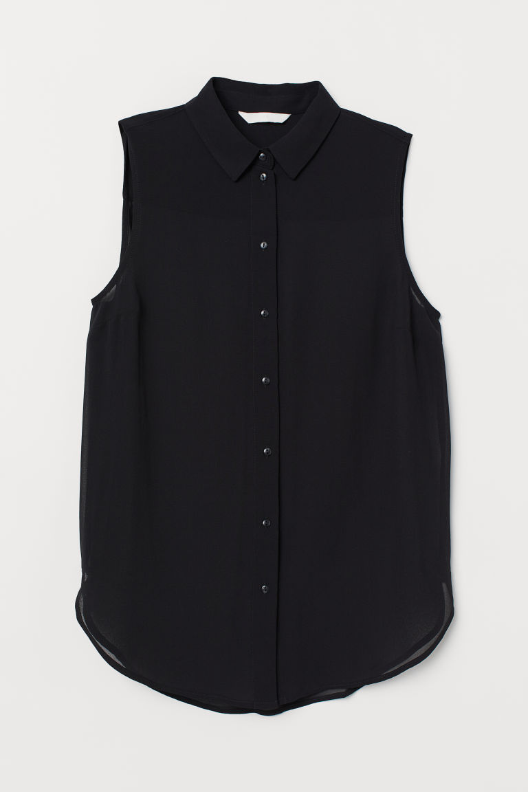 Ärmellose Bluse - Schwarz - Ladies | H&M AT