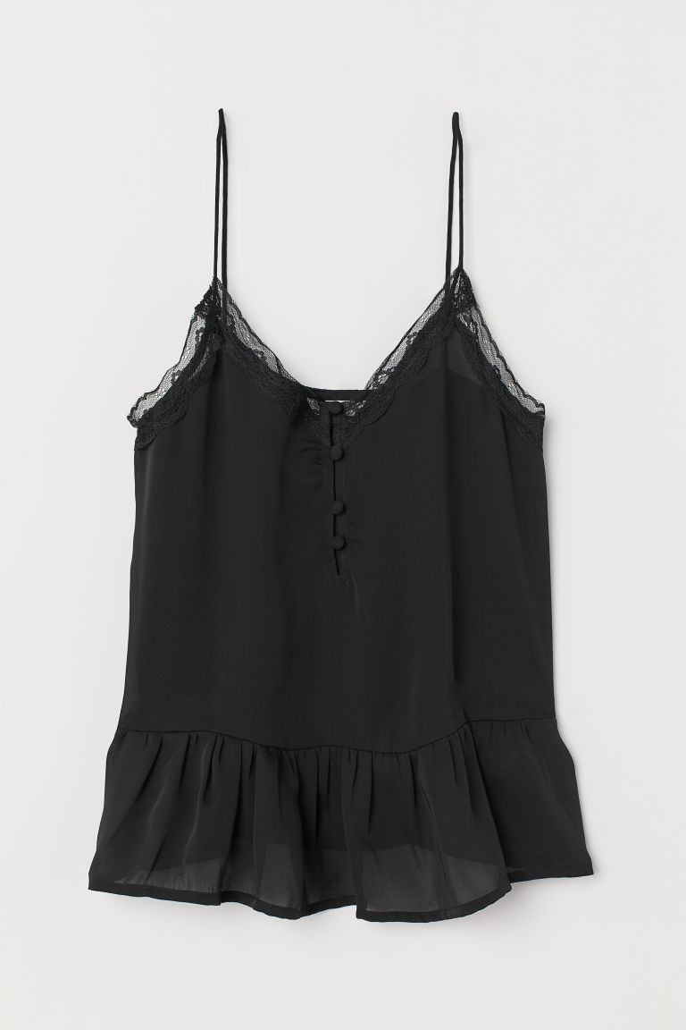 Top con scollo a V - Nero - DONNA | H&M IT