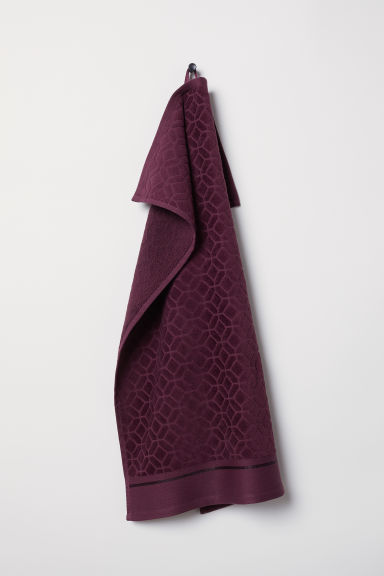 Serviette jacquard - Bordeaux - Home All | H&M FR