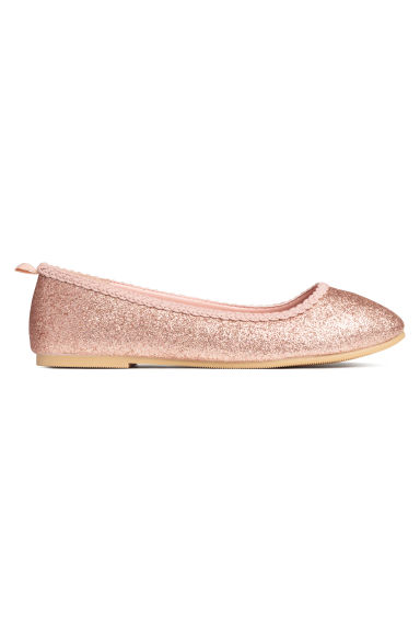 Glittery ballet pumps - Rose gold-coloured -  | H&M