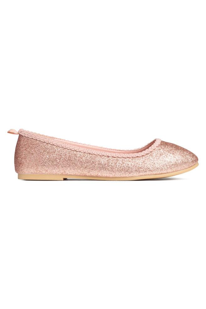d6fca63df92 Glittery ballet pumps - Rose gold-coloured - Kids