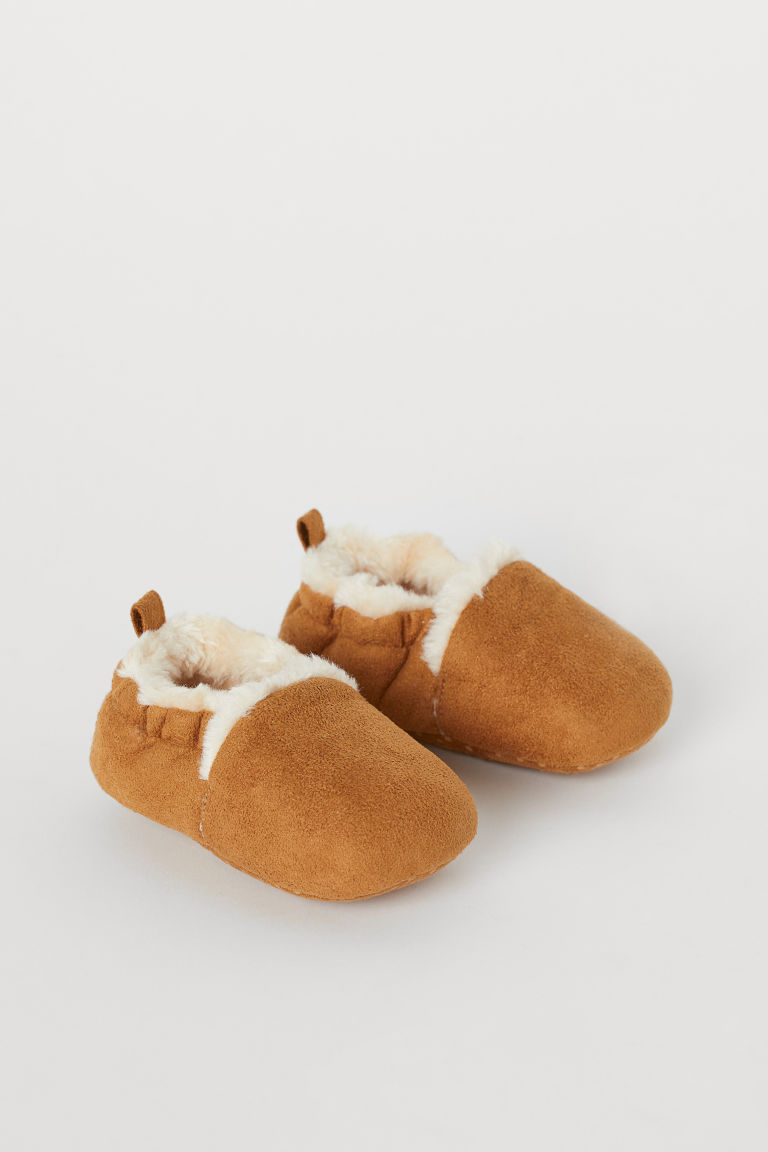 Soft Slippers - Light brown - Kids | H&M US