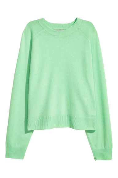 Cashmere jumper - Light green -  | H&M CN