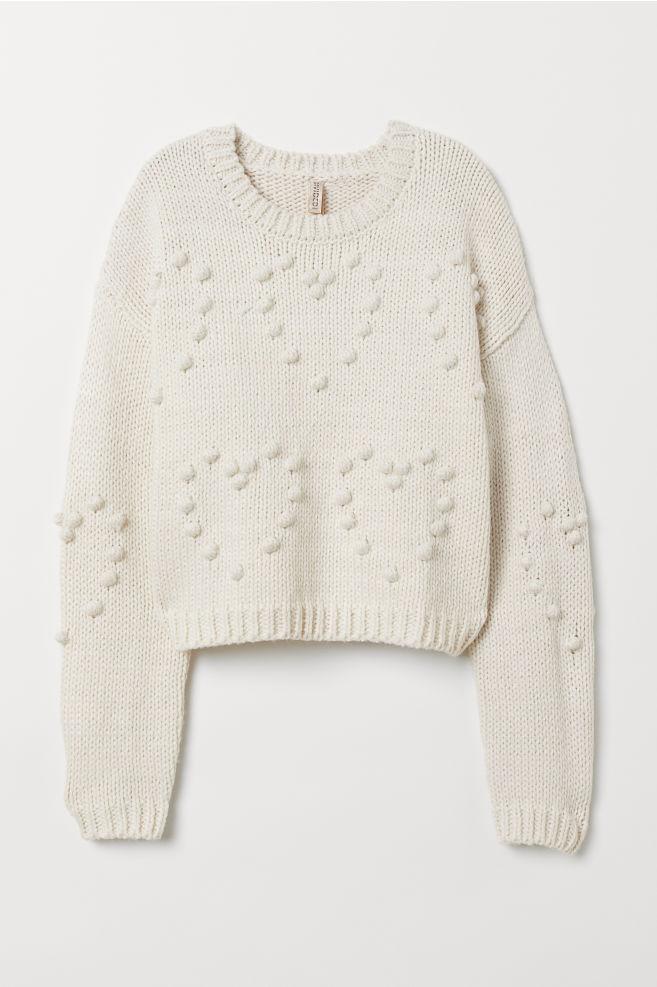 ... Kötött pulóver - Természetes fehér - NŐI  d95ef39ce3